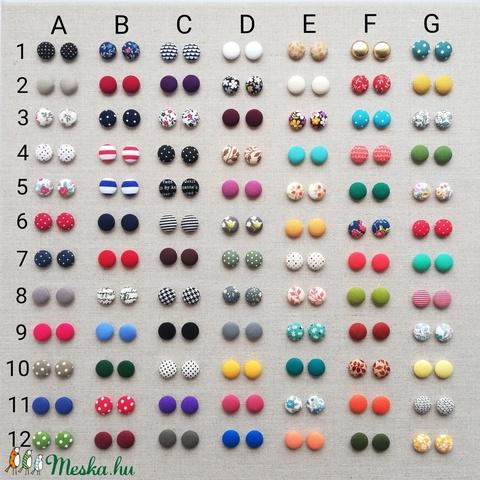 MINI textil fülbevaló csomag, variálható - 3 pár  (adris) - Meska.hu