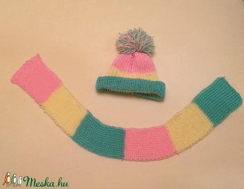 Kézzel kötött baba sapka és sál választható színekben  - Meska.hu