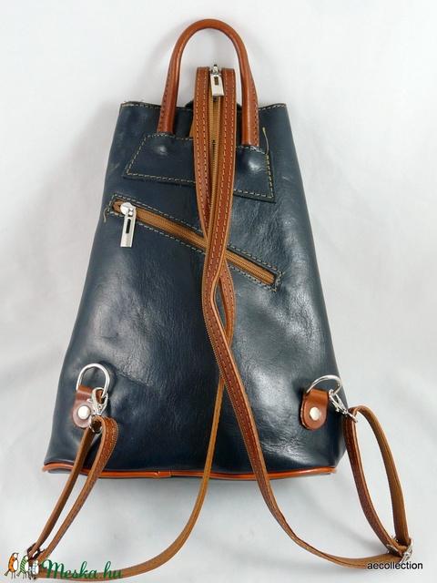 Extravagáns, valódi marhabőr háti táska, kézzel készült, kézzel festett mintával! (AeCollection) - Meska.hu