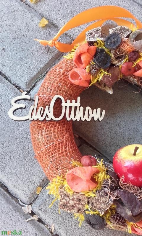 ÉDES OTTHON ŐSSZEL őszi-termés kopogtató, ajtódísz RENDELHETŐ - otthon & lakás - dekoráció - ajtódísz & kopogtató - Meska.hu