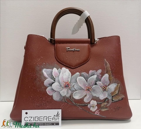 """""""Sakura"""" kézzel festett táska - Meska.hu"""