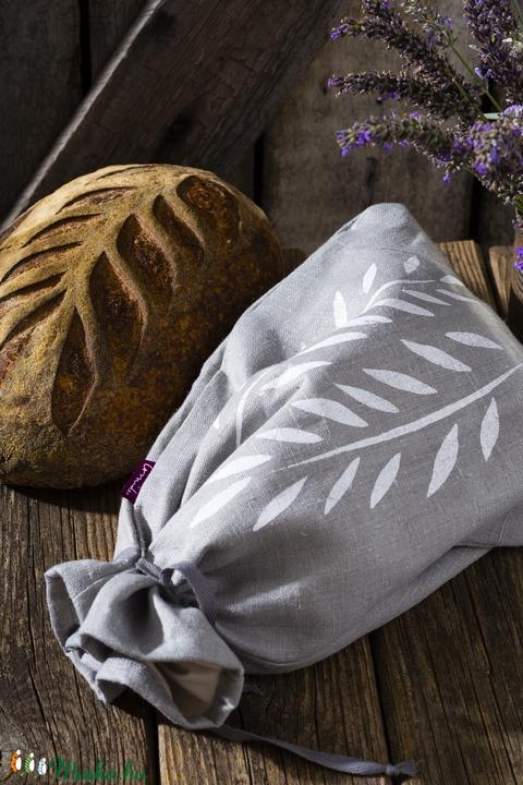 Kenyértartó zsák BÉLELT, KICSI, lenvászon, kenyérzsák, pékáru tartó, frissentartó zsák, zero waste, környezetbarát (agnescor) - Meska.hu
