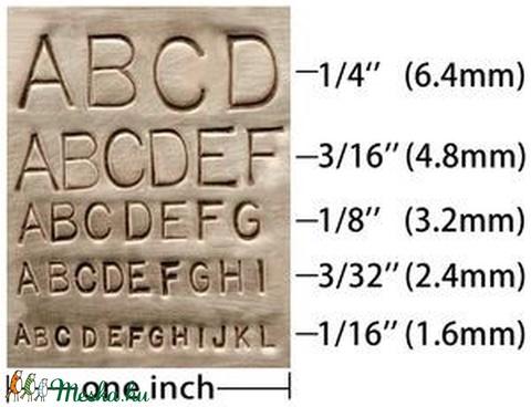Kisbetű betűbeütő Gothic készlet 3 mm Beadsmith - Meska.hu