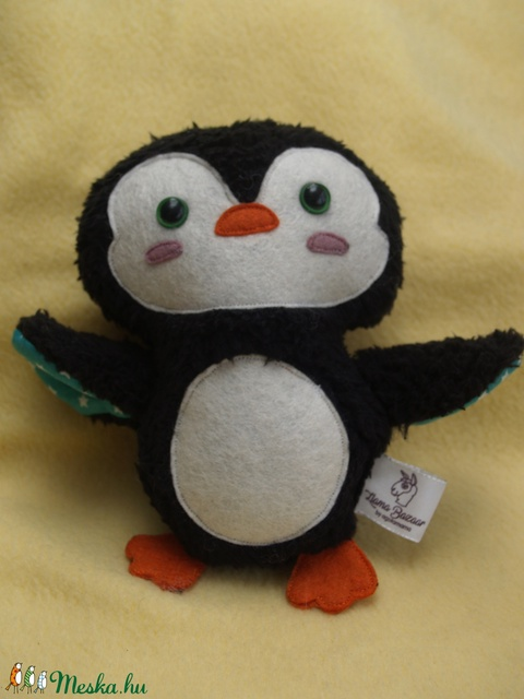Textil pingvin figura (agotamama) - Meska.hu