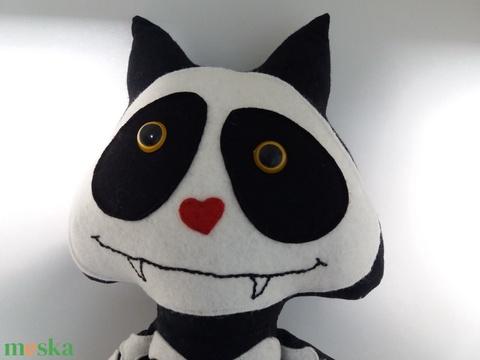Csontváz cica textil figura  (agotamama) - Meska.hu