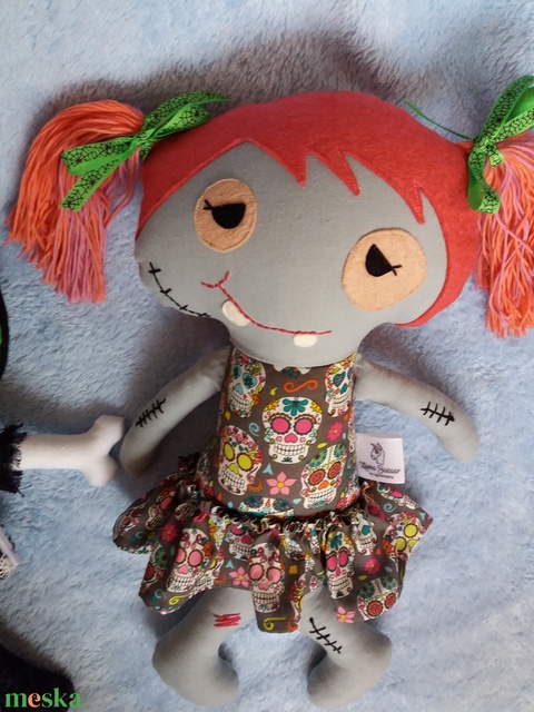 Zombi lány textilbaba - Meska.hu