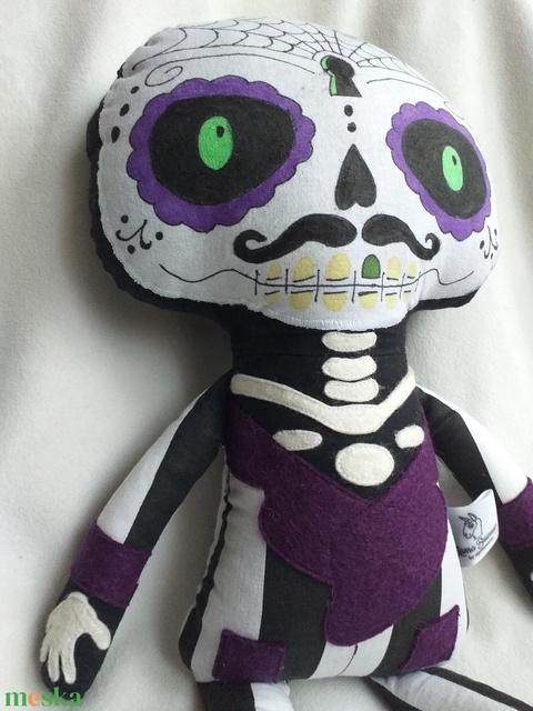 Dia de los muertos/sugar skull baba textilből (agotamama) - Meska.hu