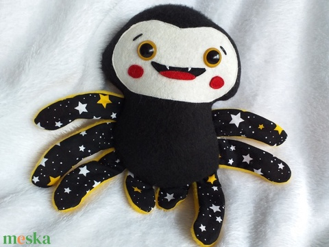 Mókás pókocska, pókica textilből - Meska.hu