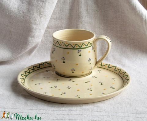 Bögre tányérral  - Meska.hu