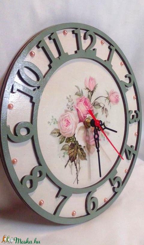 Vintage rózsás óra (aKataArt) - Meska.hu