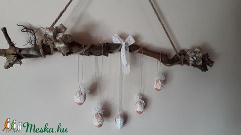 Villányi szőlőtőkéből készített húsvéti dísz, vintage tojásfa - Meska.hu