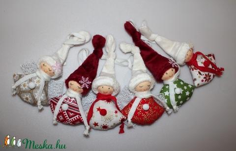 6 db. karácsonyfadísz manó, angyal (Aledi) - Meska.hu