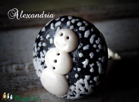 Hóember gyűrű (Alexandria) - Meska.hu