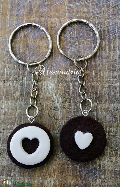 Magammal hordom a szíved OREÓS kulcstaró szett - táska & tok - kulcstartó & táskadísz - kulcstartó - Meska.hu