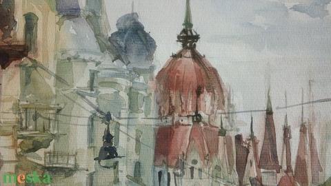 Budapest, View on Parliament, Akadémia u., 2020 - Meska.hu
