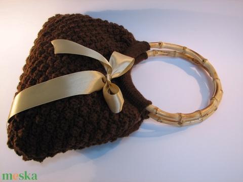 Csokibarna nőcis kötött táska (AlkoTaskaim) - Meska.hu