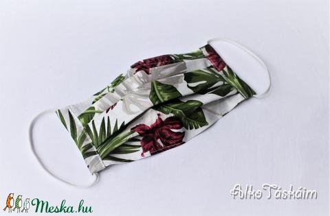 Trópusi virágok - szájmaszk merevítővel, plusz zsebnyílással (AlkoTaskaim) - Meska.hu