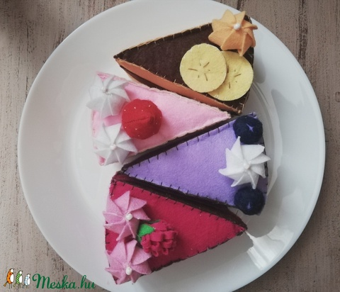 Filc tortaszeletek  - Meska.hu