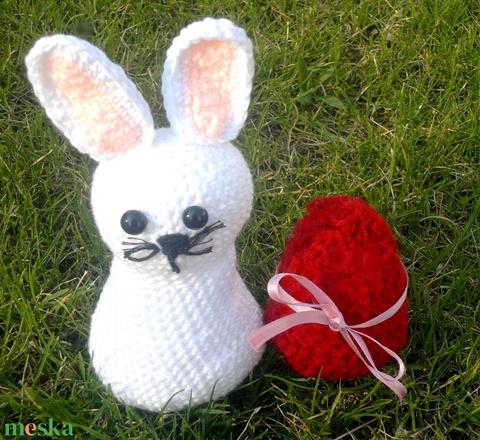 aranyos horgolt fehér nyuszi nem csak húsvétra - játék & gyerek - plüssállat & játékfigura - nyuszi - Meska.hu