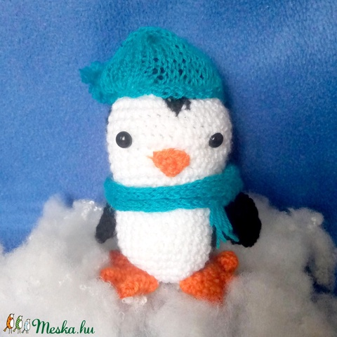 vidám horgolt pingvin - játék & gyerek - plüssállat & játékfigura - más figura - Meska.hu