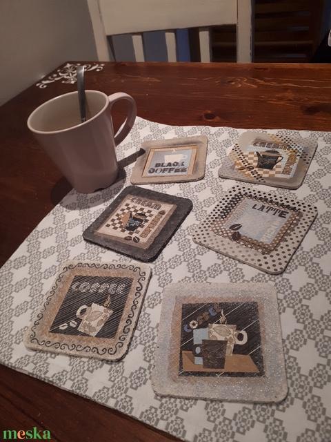 Parafa poháralátét-Coffee - Meska.hu