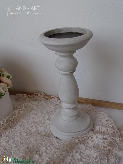 Vintage gyertyatartó, ünnepi alkalmakra. (Andartdecoration) - Meska.hu