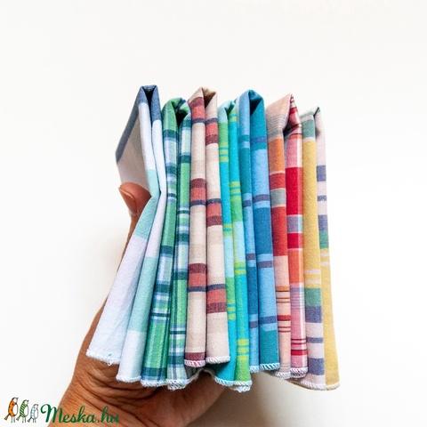 5 db puha pamut férfi, női vagy gyerek zsebkendő újrahasznosított, kockás textil anyagból az allergia szerzonra - Meska.hu