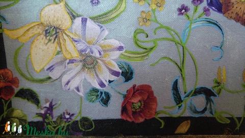 Virágok a kertben festmény (ajándék/nászajándék) - Meska.hu