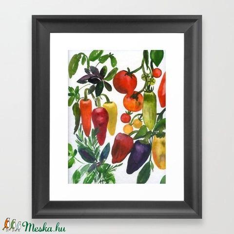 Négy évszak: Nyár eredeti akvarell festmény zöldségekkel - Meska.hu
