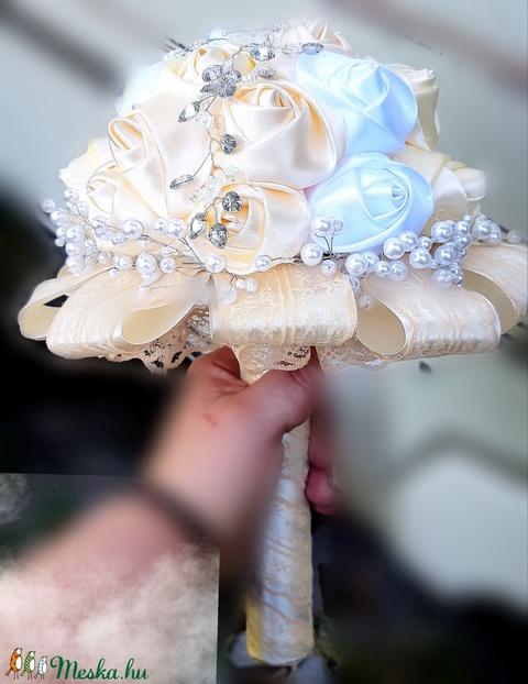 Vanília , pezsgő örökcsokor, menyasszonyi csokor (andysshop) - Meska.hu