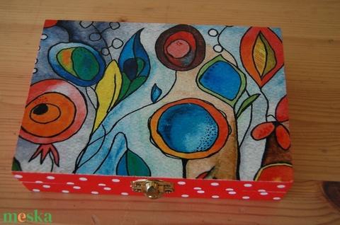 Vidám színes virág doboz (Aneta1608) - Meska.hu