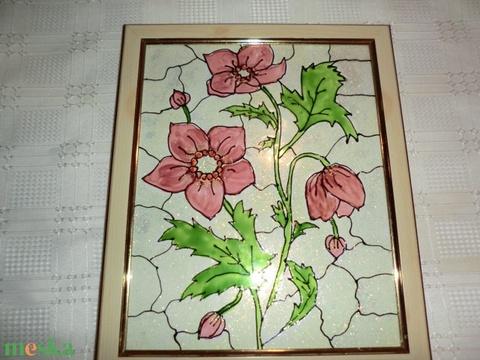 Tiffany mintás virágkép - Meska.hu