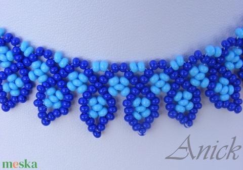 Leveles kék nyaklánc - Meska.hu