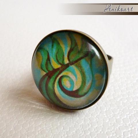 Egyedi tervezésű mintával készült gyűrű - Meska.hu