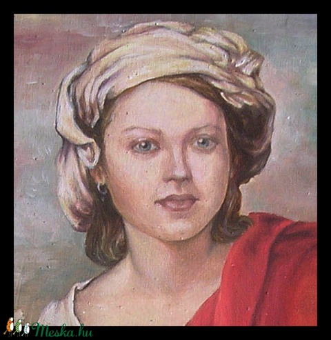 Portréfestmény 40x50 cm-es méretben vászonra/fára festve (anikoart) - Meska.hu