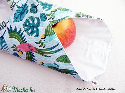 Wrap bag - vízhatlan szalvéta papagáj (annetextil) - Meska.hu