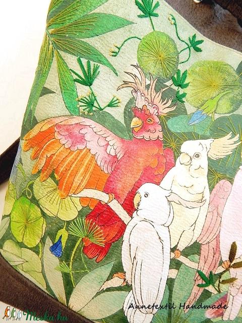 Papagájok - Kolibri No2. többfunkciós hátizsák, táska (annetextil) - Meska.hu