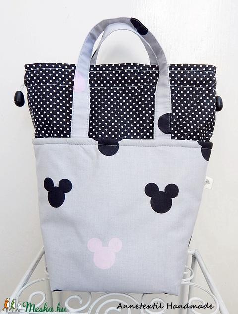 Kids bag set - uzsonnás táska szett - Mickey (annetextil) - Meska.hu