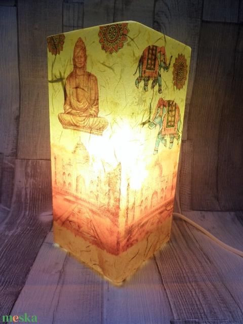 Asztali lámpa,éjjeli lámpa,hangulatlámpa indiai buddha mintával (Annikreativ) - Meska.hu