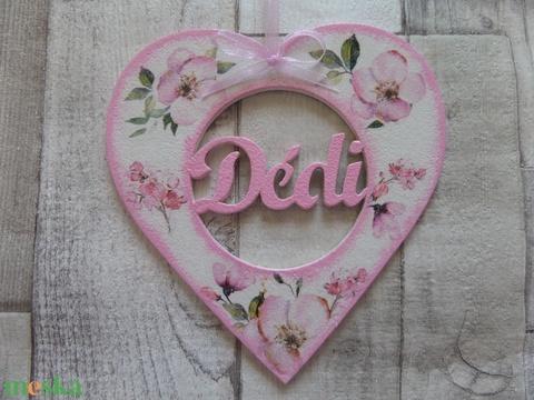 Szív alakú dísz Dédi felirattal - Meska.hu