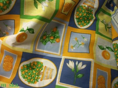 Gyönyörű színek, mediterán hangulatú minta! Abrosz, terítő, tavaszra, nyárra (AnniMari) - Meska.hu