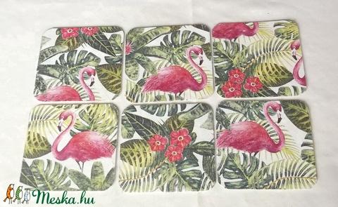 Flamingó - söralátétek (antibes) - Meska.hu