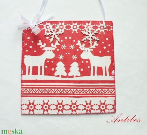 Karácsony ünnepén - ajtódísz (antibes) - Meska.hu