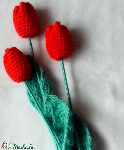 Horgolt piros tulipán (anyuci14) - Meska.hu