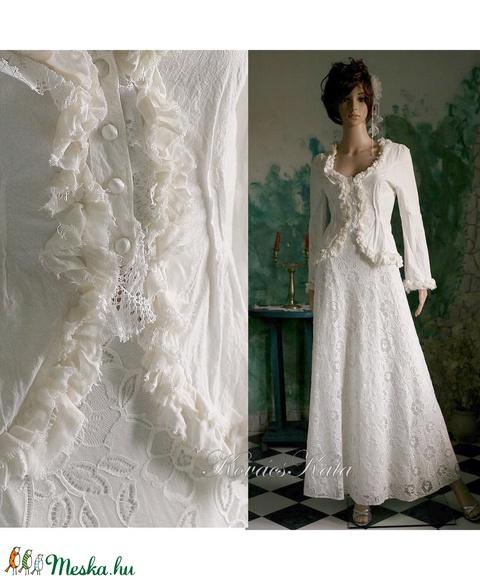 EMILIA - esküvői kosztüm  (Aranybrokat) - Meska.hu