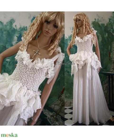 SWAN - bohém menyasszonyi ruha  - Meska.hu