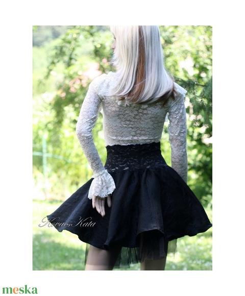 BALERINA - lolita- design-szoknya (Aranybrokat) - Meska.hu