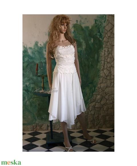 DÁLIA - muszlinruha - alternatív menyasszonyi ruha  (Aranybrokat) - Meska.hu