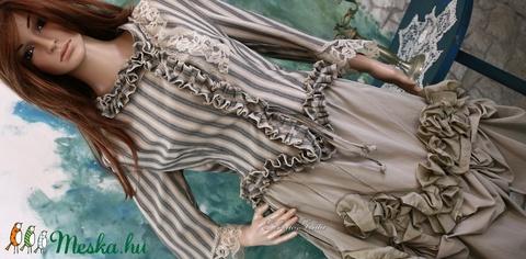 BETTINA - vintage design kétrészes ruha (Aranybrokat) - Meska.hu