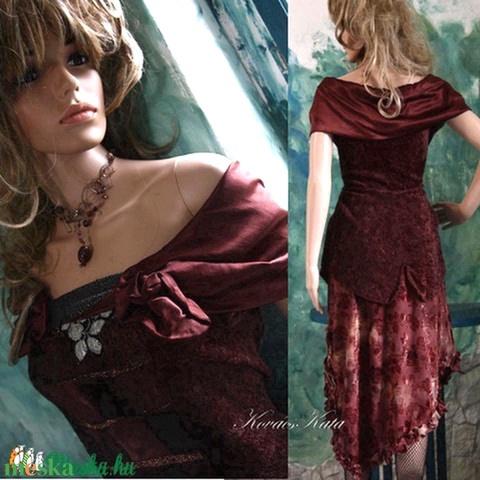 MELBA  - romantikus design-ruha (Aranybrokat) - Meska.hu